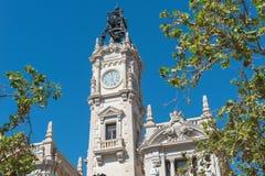 Plaza del Ayuntamiento,巴伦西亚, Spanien 免版税库存图片