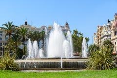 Plaza del Ayuntamiento In Βαλένθια Στοκ εικόνα με δικαίωμα ελεύθερης χρήσης