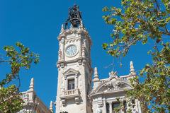 Plaza del Ayuntamiento, Βαλένθια, Spanien Στοκ εικόνα με δικαίωμα ελεύθερης χρήσης