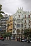Plaza del Ayuntamiento - κύριο τετράγωνο της Βαλένθια, Ισπανία Στοκ Εικόνες