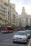 Plaza del Ayuntamiento - κύριο τετράγωνο της Βαλένθια Στοκ Φωτογραφίες