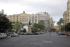 Plaza del Ayuntamiento - κύριο τετράγωνο της Βαλένθια Στοκ Εικόνες