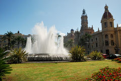 Plaza del Ayuntamiento Royalty Free Stock Photos