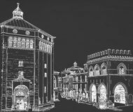 Plaza del bosquejo Imagenes de archivo