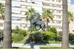 Plaza del Caballo, Jerez de la Frontera. In the province of Cadiz, Spain, photo taken on 9 August 2017 royalty free stock photos