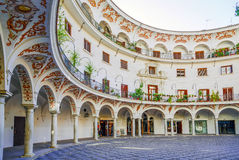 Plaza del Cabildo. Σεβίλη, Ισπανία Στοκ εικόνα με δικαίωμα ελεύθερης χρήσης