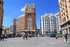 Plaza del Callao, Μαδρίτη Στοκ Εικόνες