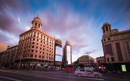 Plaza del Callao Madrid Images libres de droits