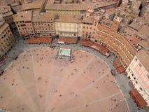 Plaza del campo de Siena Foto de archivo libre de regalías