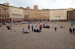 Plaza del campo, Siena, Toscana, Italia Imágenes de archivo libres de regalías