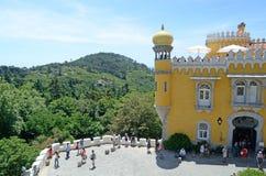 Plaza del castello di Pena con paesaggio, Sintra, Portogallo Immagini Stock Libere da Diritti