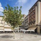 Plaza del Castillo στο Παμπλόνα, Ισπανία Στοκ Φωτογραφία