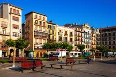 Plaza del Castillo στο Παμπλόνα Στοκ εικόνες με δικαίωμα ελεύθερης χρήσης