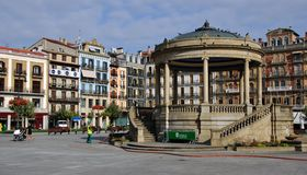 Plaza del Castillo, Pamplona stock photography