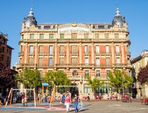 Plaza del Castillo - Pamplona stock photography