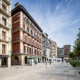 Plaza del Castillo in Pamplona, Spain Stock Images