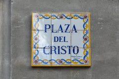 Plaza del Cristo Cristo πλατεία Στοκ Εικόνα