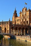 Plaza del cuadrado de España de España en Sevilla, España imagenes de archivo