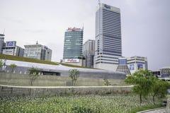 Plaza del diseño de Dongdaemun Fotos de archivo libres de regalías