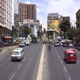 Plaza del Estudiante在拉巴斯,玻利维亚 库存照片