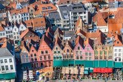 Plaza del mercado de Brujas, Bélgica Imagen de archivo