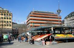 Plaza del mercado de Hotorget fotografía de archivo libre de regalías