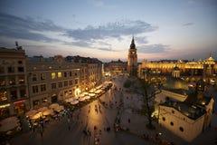 Plaza del mercado de Kraków, Polonia Imágenes de archivo libres de regalías