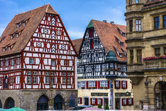 Plaza del mercado de Rothenburg Imagenes de archivo