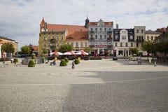 Plaza del mercado en Gniezno Imagen de archivo libre de regalías