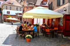 Plaza del mercado en Sibiu, capital europea de la cultura por el año 2007 Imagen de archivo