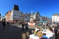 Plaza del mercado en Trier Imagen de archivo libre de regalías