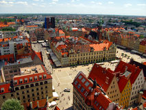 Plaza del mercado en Wroclaw, Polonia Fotografía de archivo libre de regalías