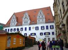 Plaza del mercado Meissen Alemania Foto de archivo