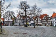 Plaza del mercado, Soest, Alemania fotos de archivo