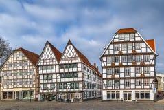 Plaza del mercado, Soest, Alemania fotografía de archivo