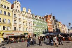 Plaza del mercado, Wroclaw Fotografía de archivo libre de regalías
