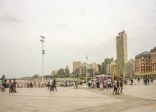 Plaza del Milenio i Mar del Plata Arkivfoton