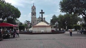 Plaza del ¡n de Iglesia Cuautitlà Imagen de archivo libre de regalías