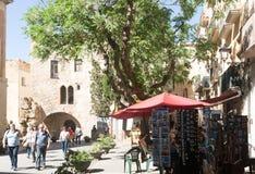 Plaza del Pallol Square Tarragona, Καταλωνία Στοκ φωτογραφία με δικαίωμα ελεύθερης χρήσης