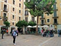 Plaza del pi στη Βαρκελώνη, Ισπανία Στοκ εικόνα με δικαίωμα ελεύθερης χρήσης