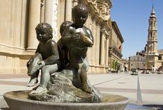 Plaza del Pilar Royalty Free Stock Image