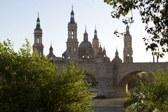 Plaza del Pilar Royalty Free Stock Photos