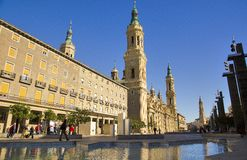 Plaza del Pilar, Zaragoza, Spain Royalty Free Stock Photo