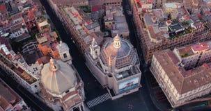 Plaza del popolo en Roma almacen de metraje de vídeo