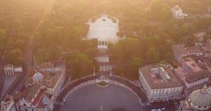 Plaza del popolo en Roma almacen de video