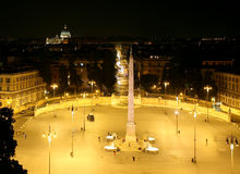 Plaza del Popolo, Rome Photo stock