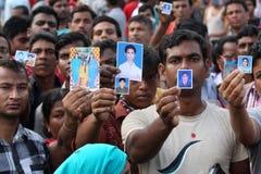 Plaza del Rana delle conseguenze nel Bangladesh (foto dell'archivio) fotografia stock