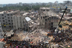 Plaza del Rana delle conseguenze nel Bangladesh (foto dell'archivio) Immagini Stock Libere da Diritti
