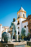 Plaza Del Socorro Church In Ronda, Spain. Old Town Royalty Free Stock Image