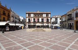 Plaza del Socorro Ronda, Ισπανία Στοκ φωτογραφία με δικαίωμα ελεύθερης χρήσης